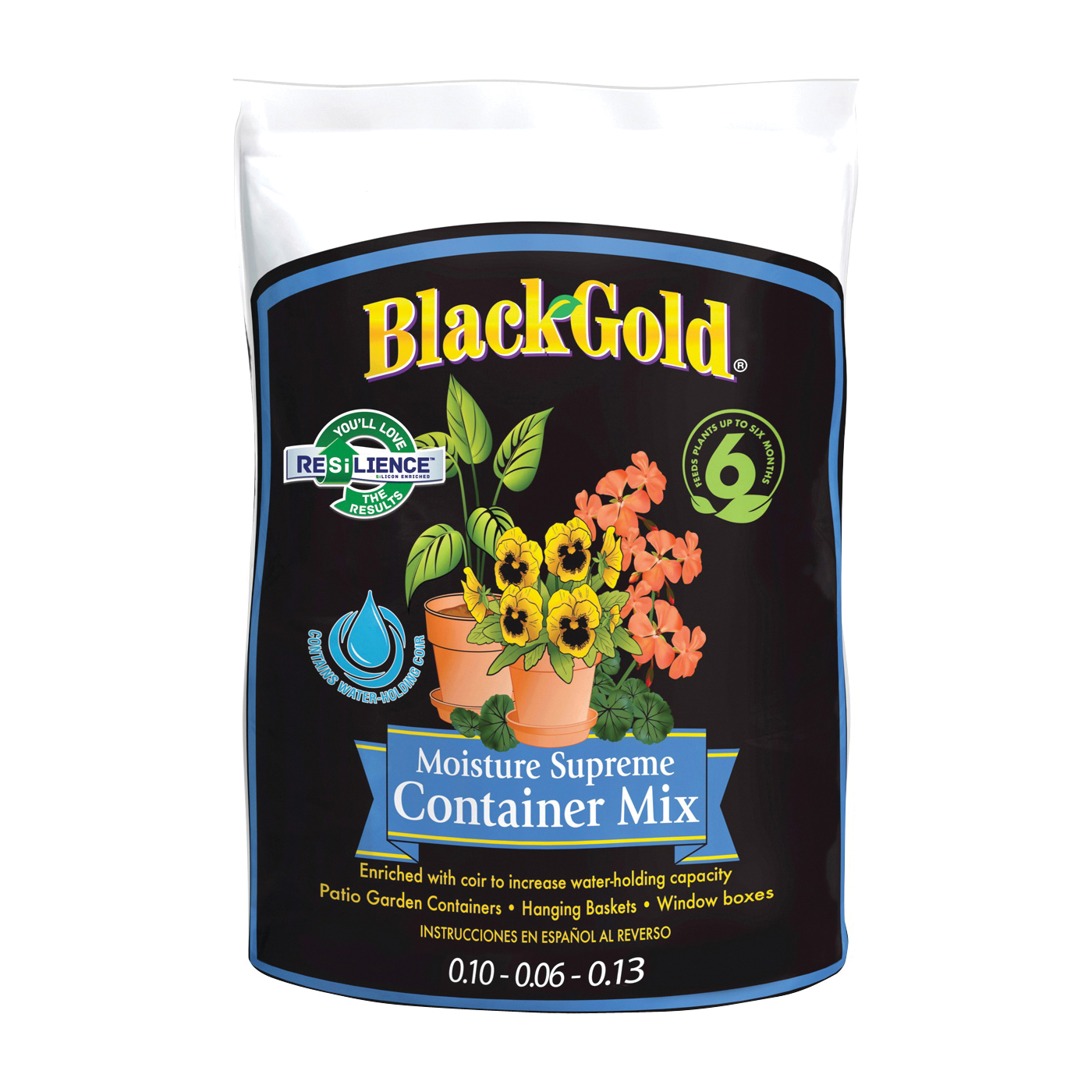 Picture of sun gro BLACK GOLD 1413000.CFL001P Container Potting Mix, 1 cu-ft Coverage Area, 70 Package, Bag