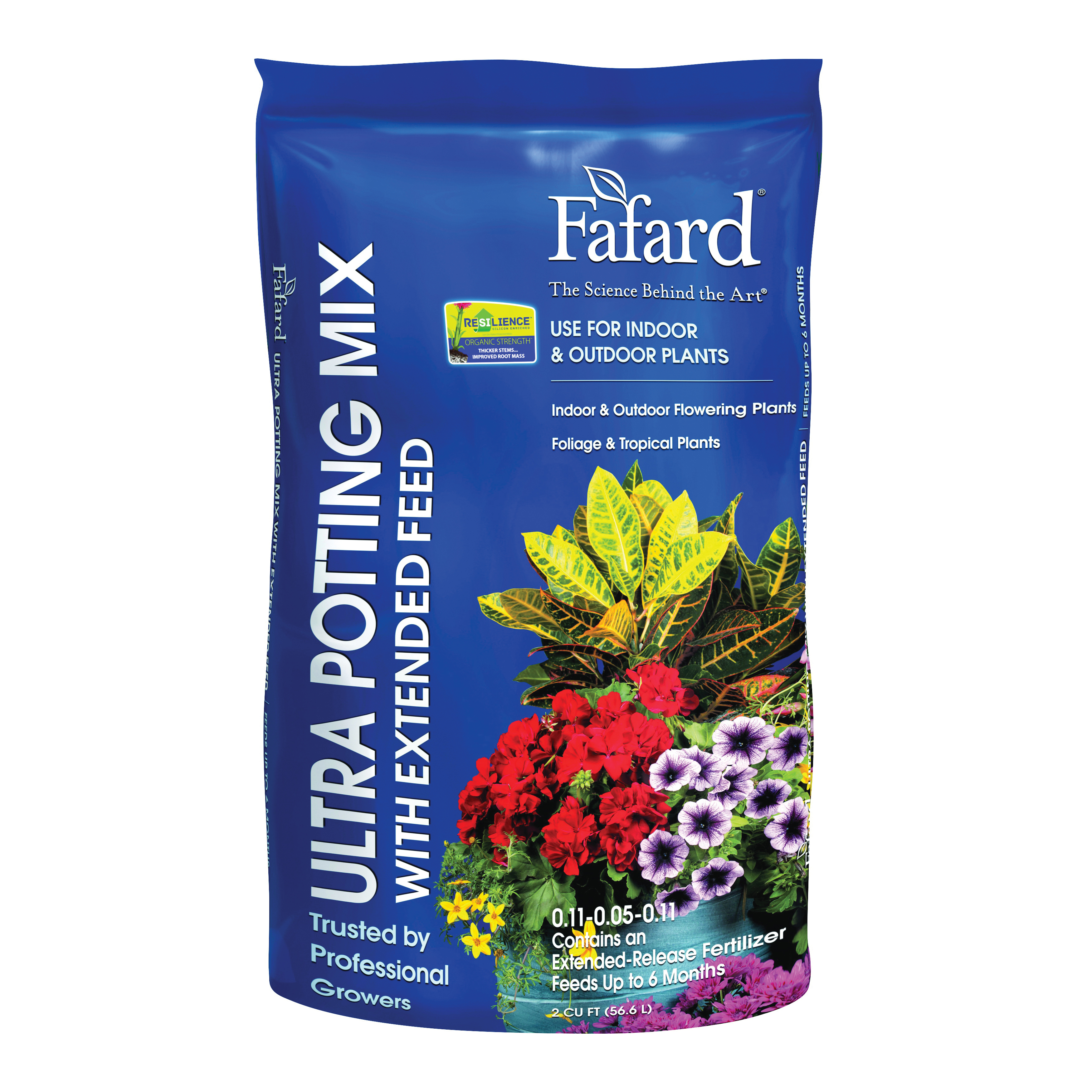 Picture of sun gro Fafard 4005201 Ultra Potting Mix with Extended Feed, 2 cu-ft Coverage Area, Flecks, Brown/White, 40 Package