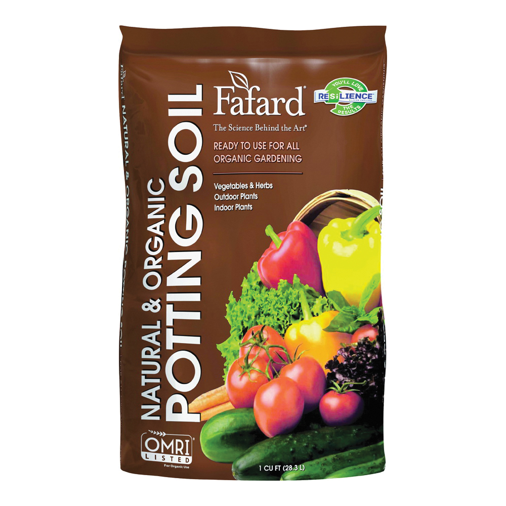 Picture of sun gro Fafard 4705103 Potting Soil, 1 cu-ft Coverage Area, Dark Brown/Light Brown, 100 Package, Bag