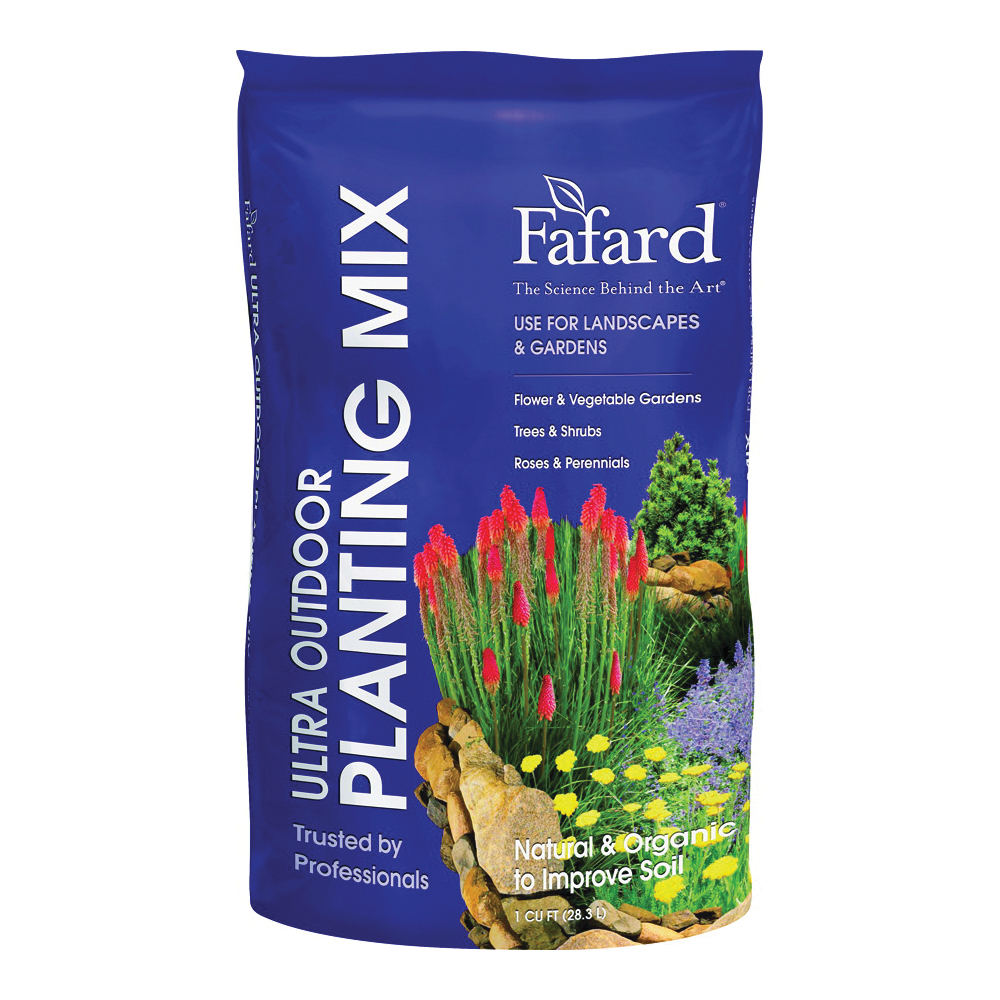 Picture of sun gro Fafard 4005105 Ultra Outdoor Planting Mix, Brown/White, 1 cu-ft Package