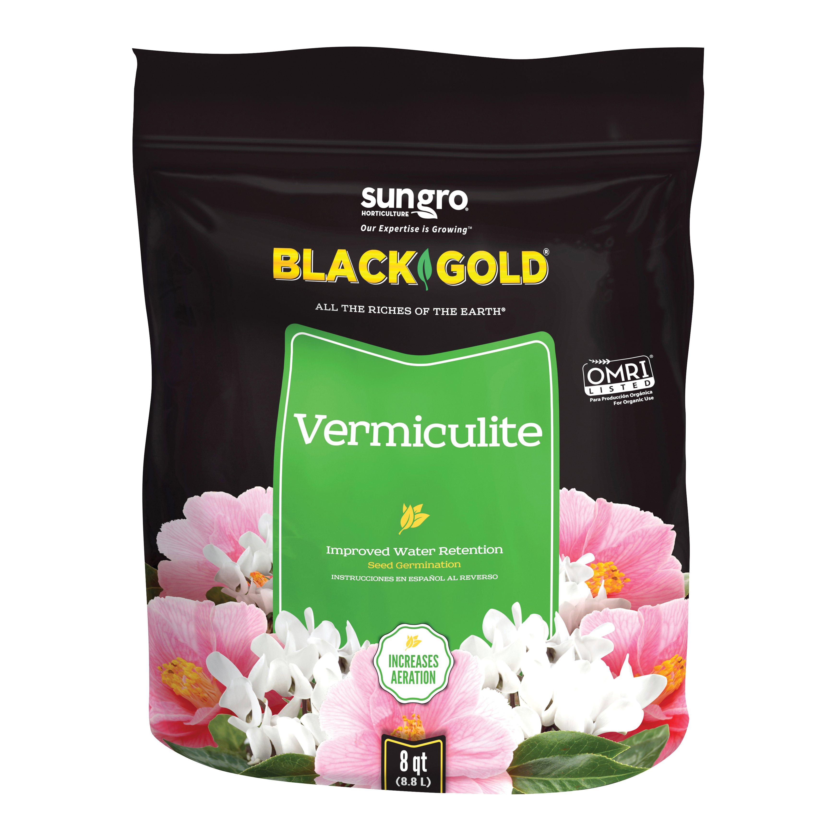 Picture of sun gro Sunshine 1490202.Q08P Vermiculite, 8 qt Package, Bag
