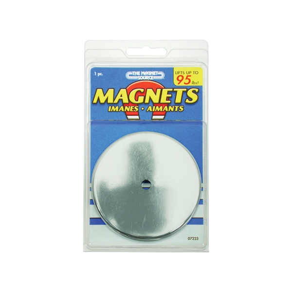 Picture of Magnet Source 07223 Round Base Magnet, Ceramic, 1.2 in ID x 3.2 in OD Dia, 0.44 in H