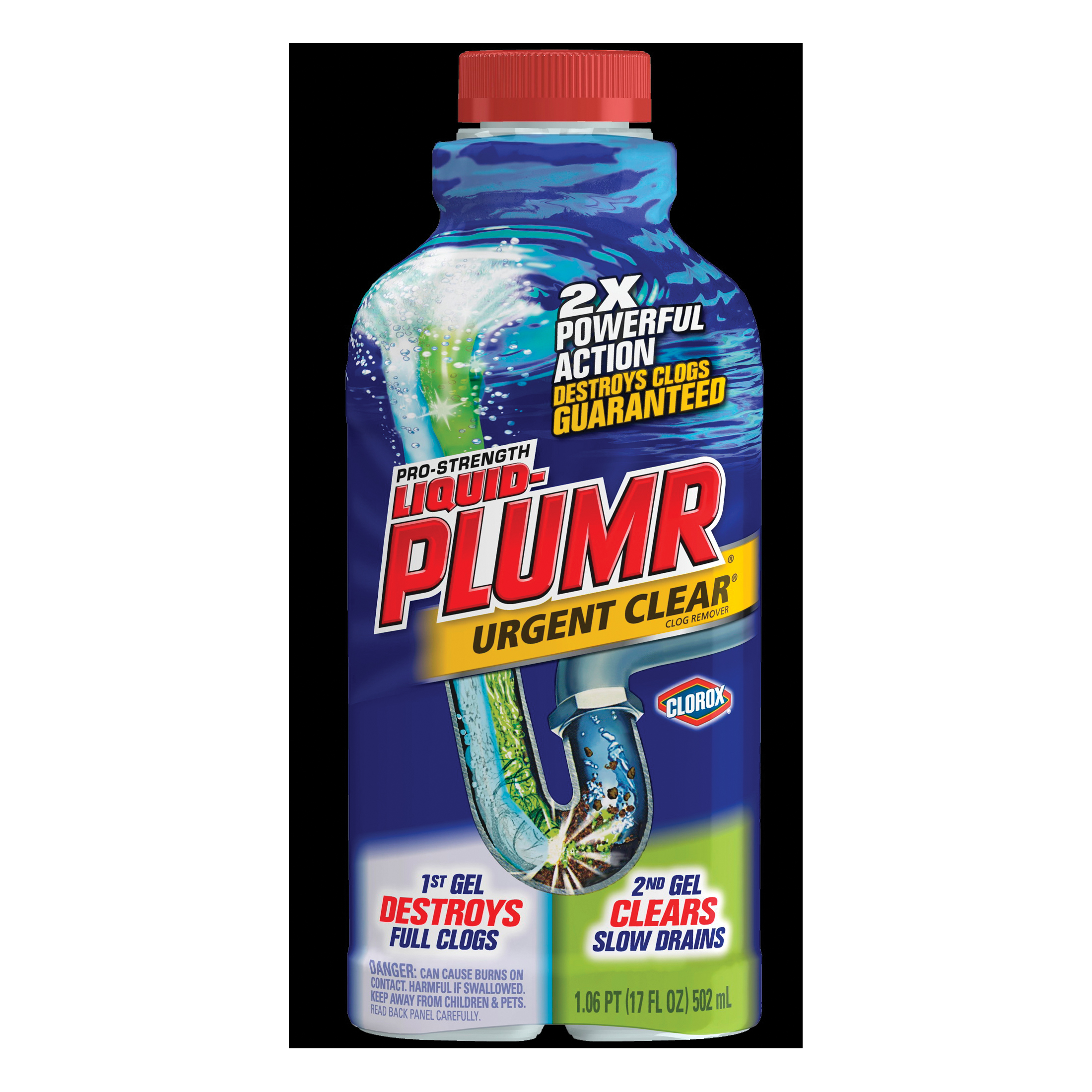 Picture of Liquid-Plumr 00242 Clog Remover, Thin Liquid, Clear/Pale Yellow, Bleach, 32 oz Package, Bottle