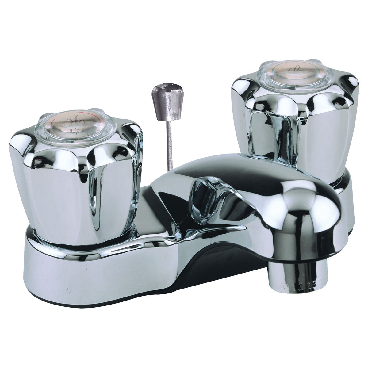 Picture of Boston Harbor PF4201RC Lavatory Faucet, 1.5 gpm, 2-Faucet Handle, ABS, Chrome, Round Handle