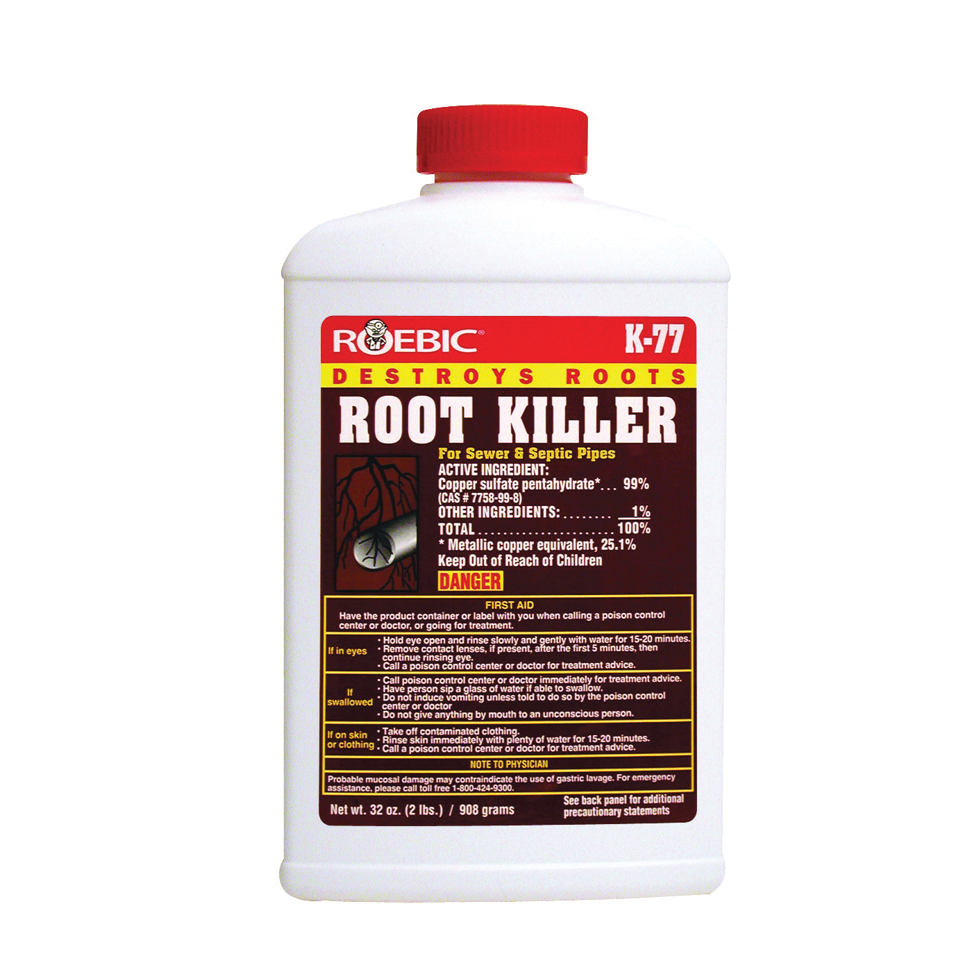 Picture of ROEBIC K-77 Root Killer, Crystal, Powder, 2 lb, Bottle