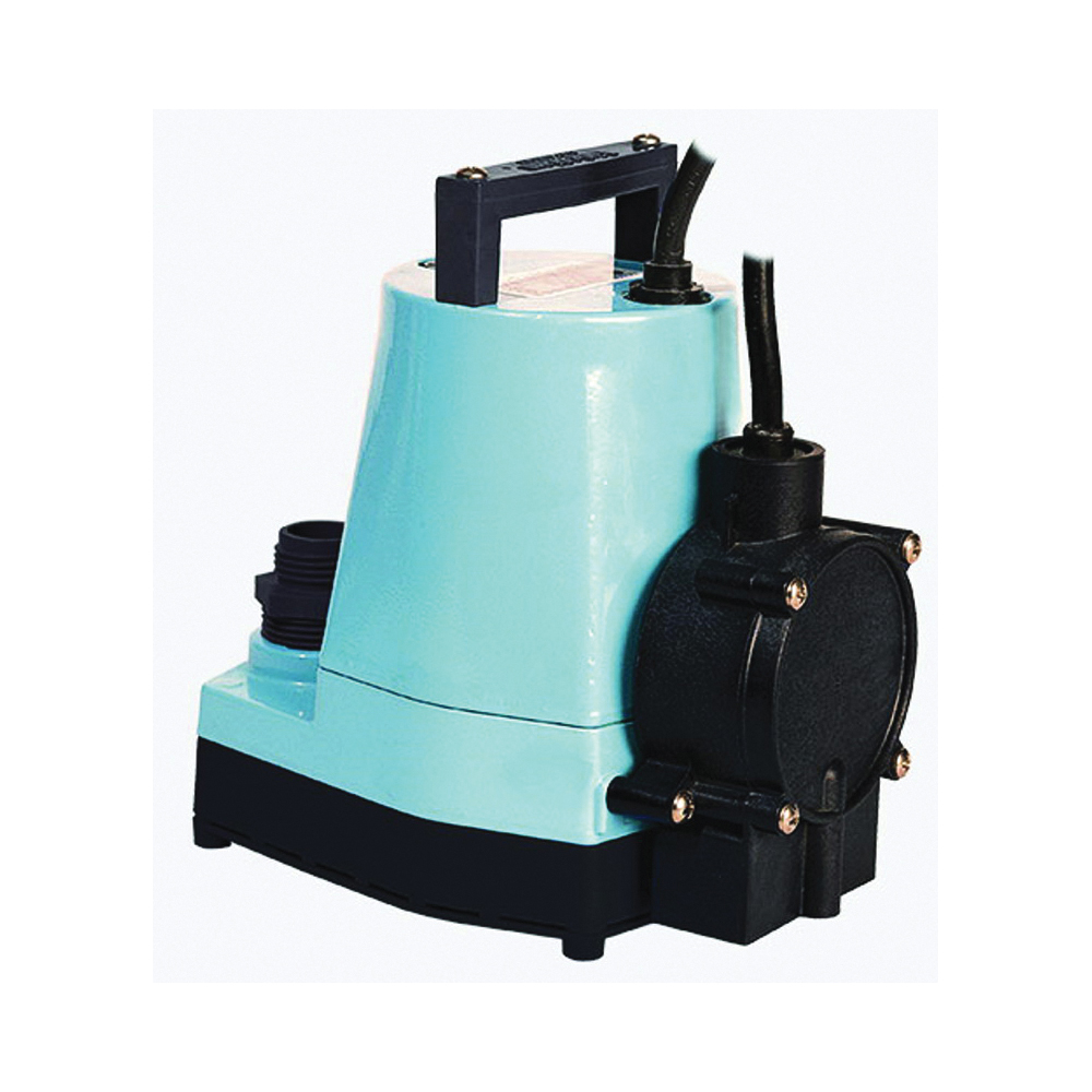 Picture of Little Giant 505355 Utility Pump, 6.4 A, 115 V, 0.166 hp, 1 in Outlet, 26.3 ft Max Head, 1200 gph, Aluminum