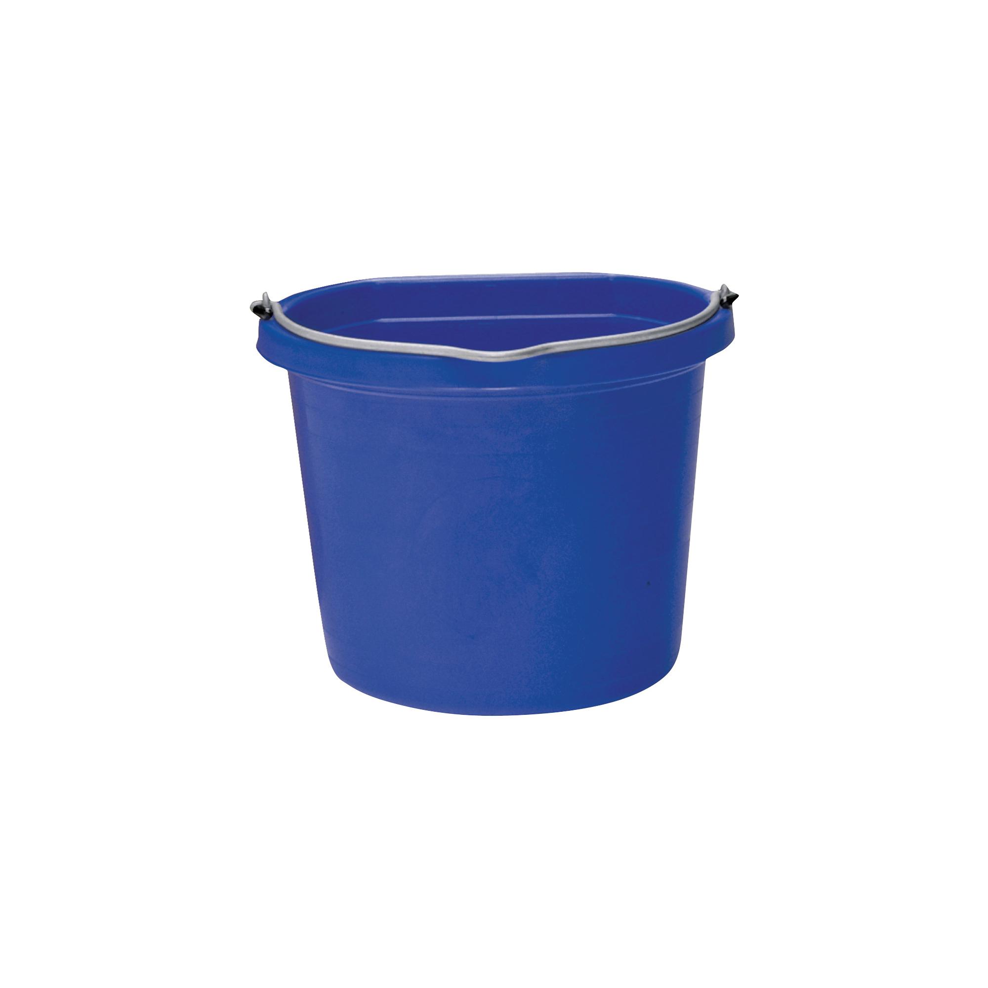 Picture of FORTEX-FORTIFLEX FB-108 FB-108BL Bucket, 8 qt Volume, Rubber/Polyethylene, Blue