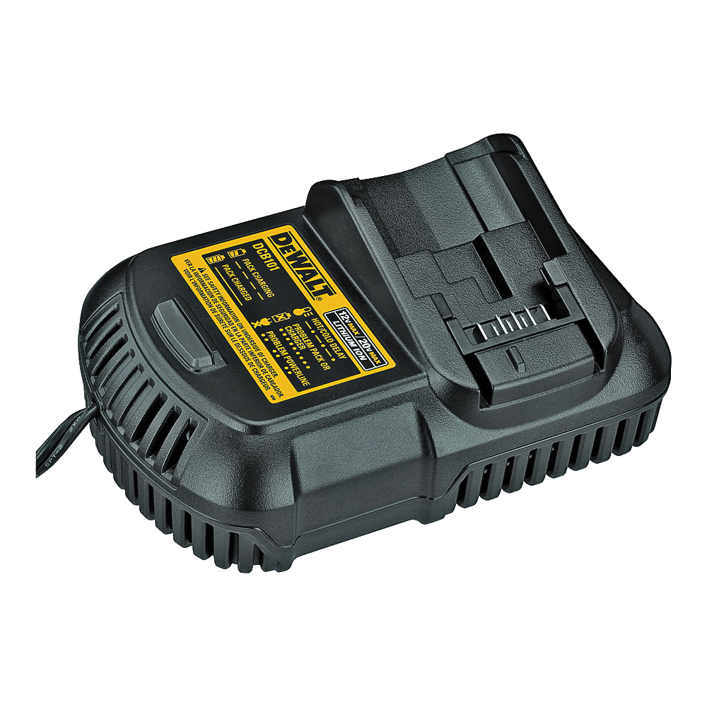 Picture of DeWALT DCB115/DCB101 Battery Charger, 12 to 20 VDC Output, 1 hr Charge, 2 -Battery, Battery Included: Yes