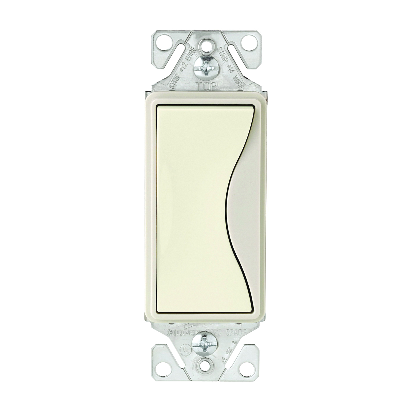 Picture of Eaton Wiring Devices ASPIRE 9503DS Rocker Switch, 15 A, 120/277 V, 3-Way, Push-In Terminal, Desert Sand