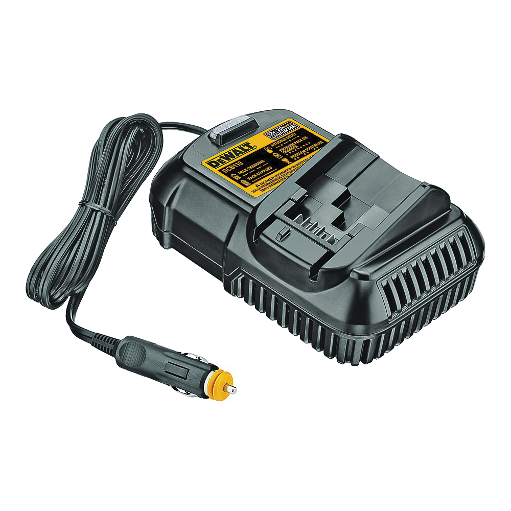 Picture of DeWALT DCB119 Vehicle Charger, 12 to 20 VDC Output, 1.3, 1.5, 3 Ah, 40 to 90 min Charge, Battery Included: No