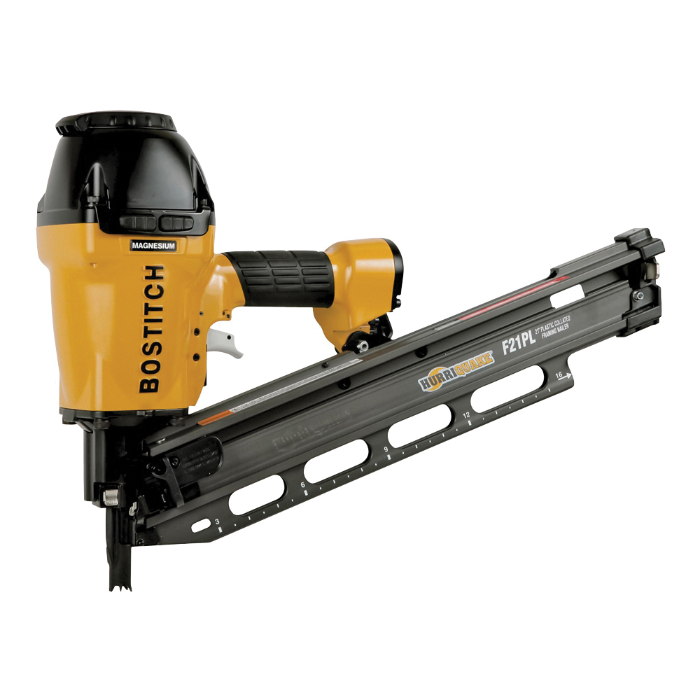 Picture of Bostitch F21PL2 Framing Nailer, 60 Magazine, 21 deg Collation, Plastic Strip Collation, 0.075 cfm/Shot Air