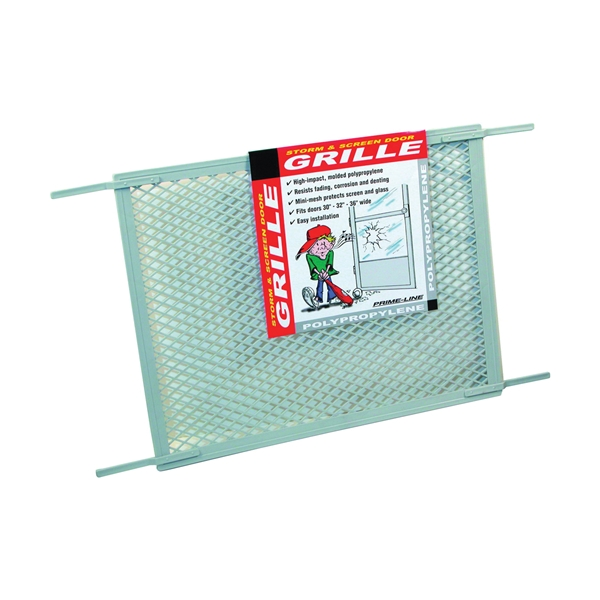 Picture of Make-2-Fit PL 15515 Hinged Screen Door Grill, 34-1/2 in W, 20 in H, Plastic, For: 30 to 36 in W Sliding Screen Doors