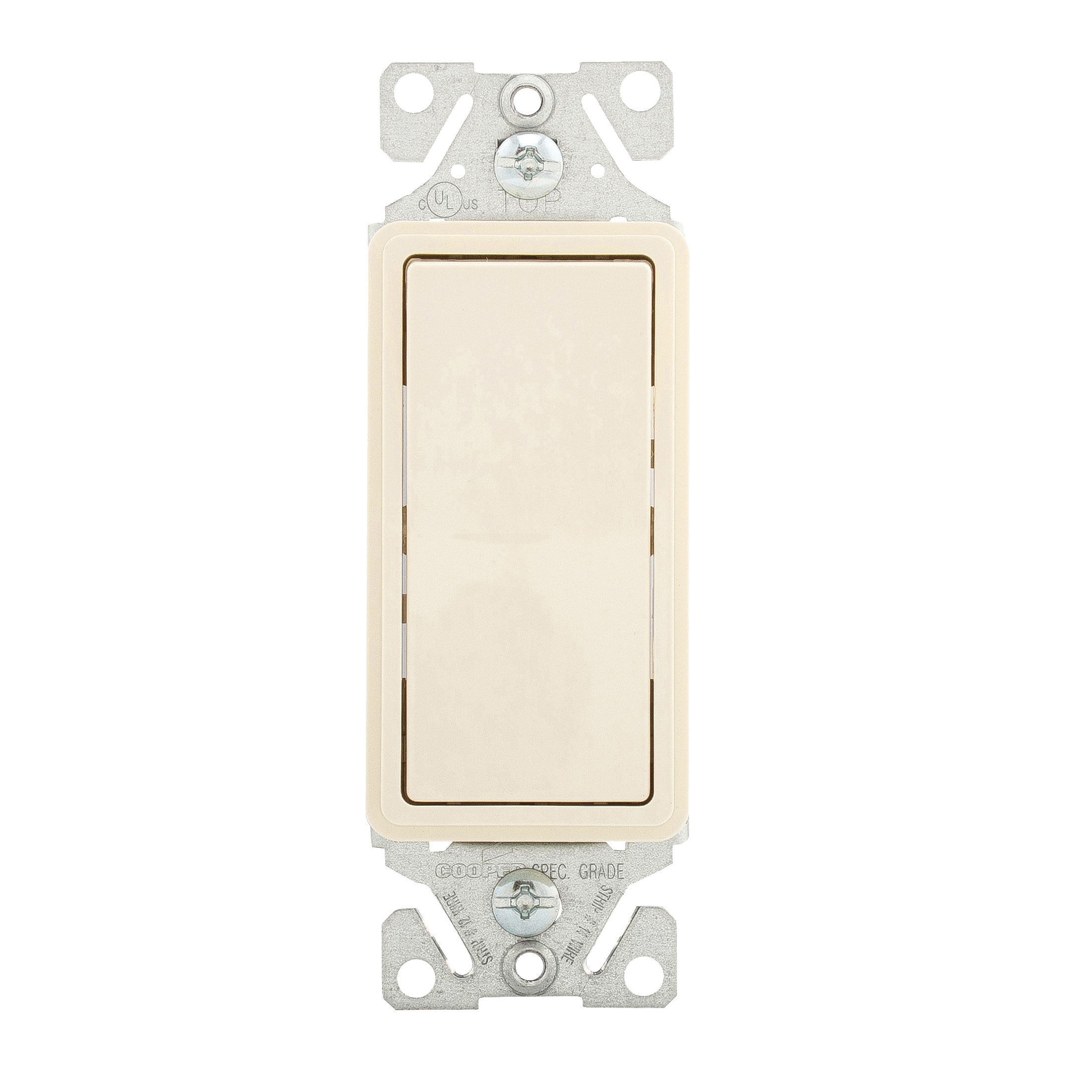 Picture of Eaton Wiring Devices 7500 Series 7501LA-BOX Rocker Switch, 15 A, 120/277 V, Single-Pole, Lead Wire Terminal