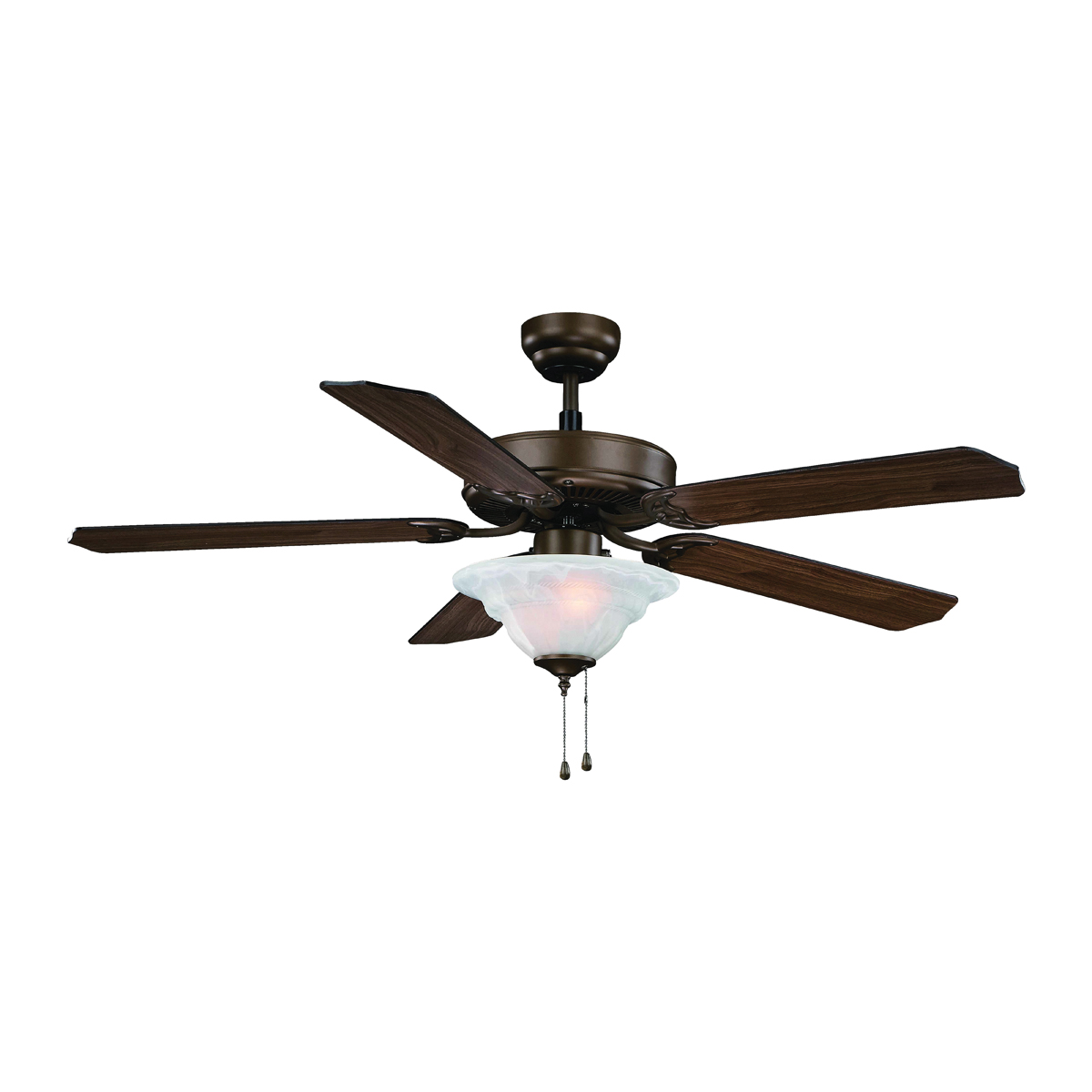 Picture of Boston Harbor CF-B552-ORB Ceiling Fan, 0.8 A, 120 V, 5-Blade, 52 in Sweep, 2942 cfm Air