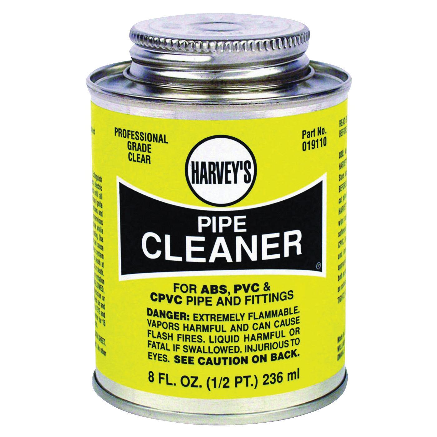 Picture of HARVEY 019110-24 Pipe Cleaner, Liquid, Clear, 8 oz Package, Can