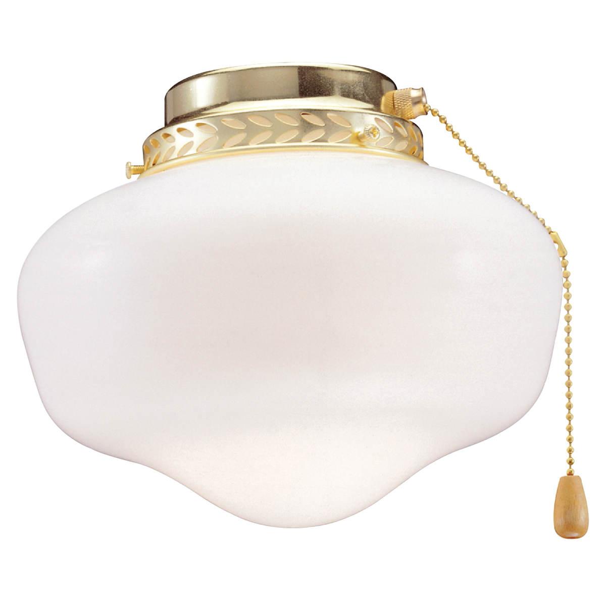 Picture of Boston Harbor CF-9SLK-PB Schoolhouse Light Kit, Opal Glass, Polished Brass, Polished Brass, Color Box