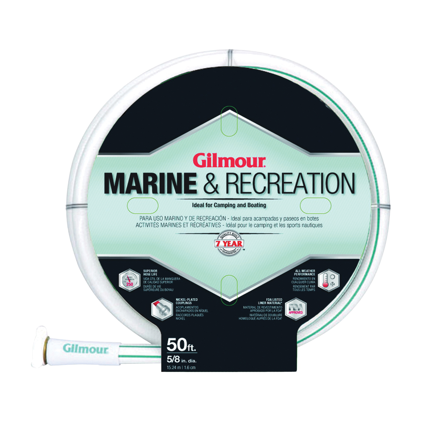 Picture of Gilmour 894501-1001 Safe Hose, 5/8 in ID, 50 ft L, White