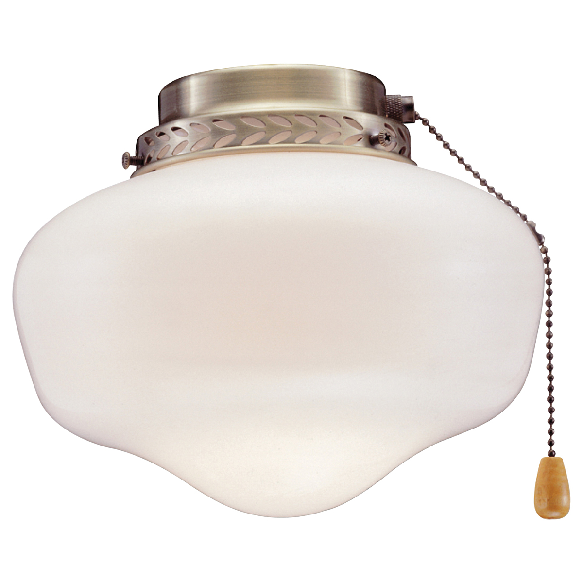 Picture of Boston Harbor CF-9SLK-AB Schoolhouse Light Kit, Opal Glass, Antique Brass, Antique Brass, Color Box
