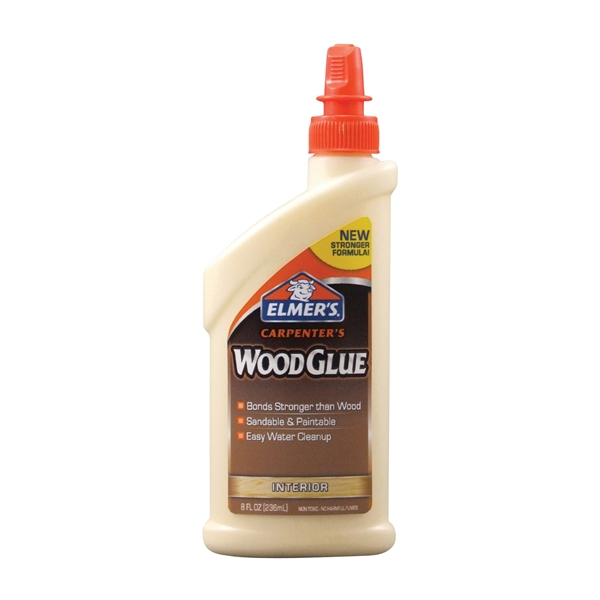 Picture of Elmers Carpenter's E7010 Wood Glue, Yellow, 8 oz Package, Bottle