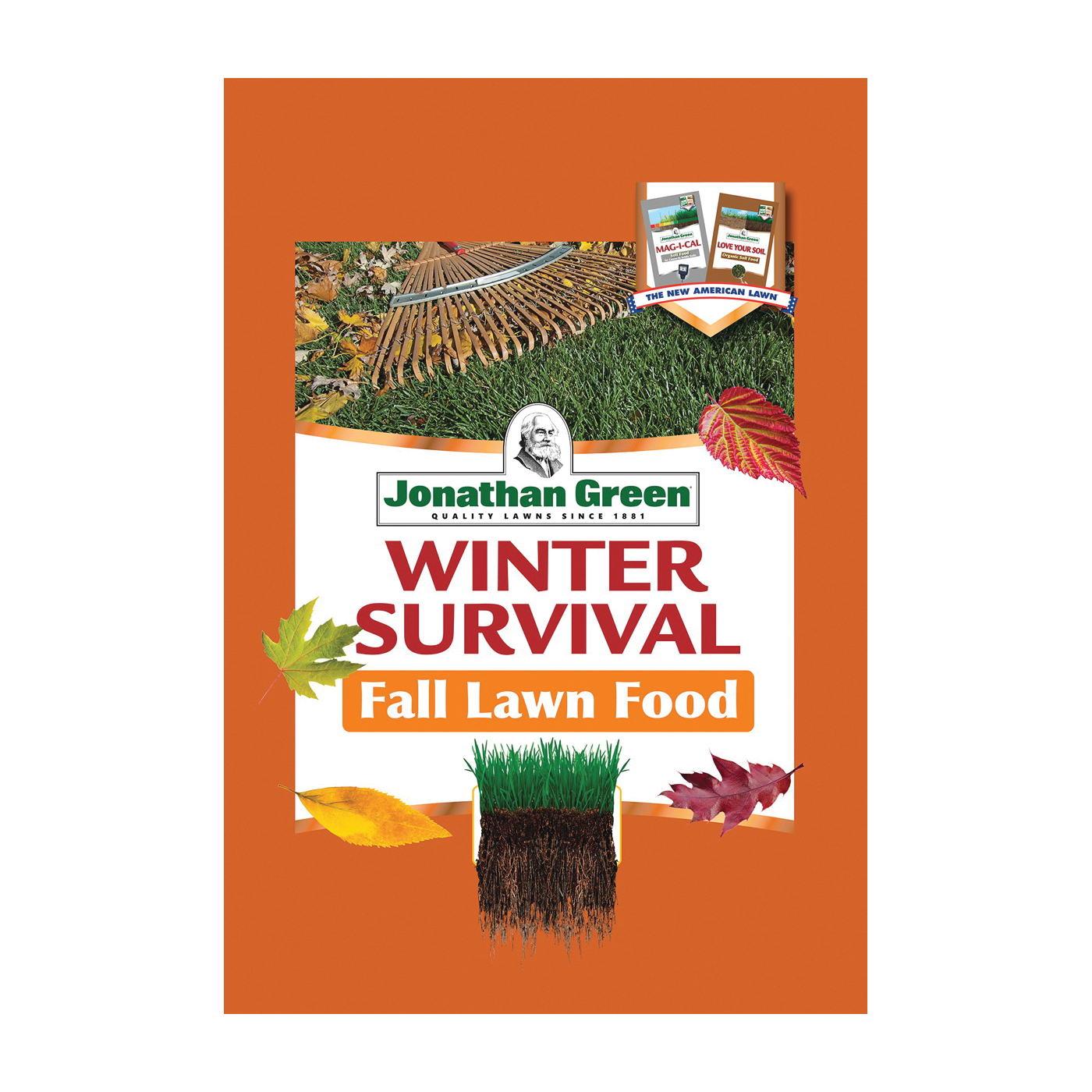 Picture of Jonathan Green Winter Survival 12414 Fall Lawn Food, Granular, 45 lb Package