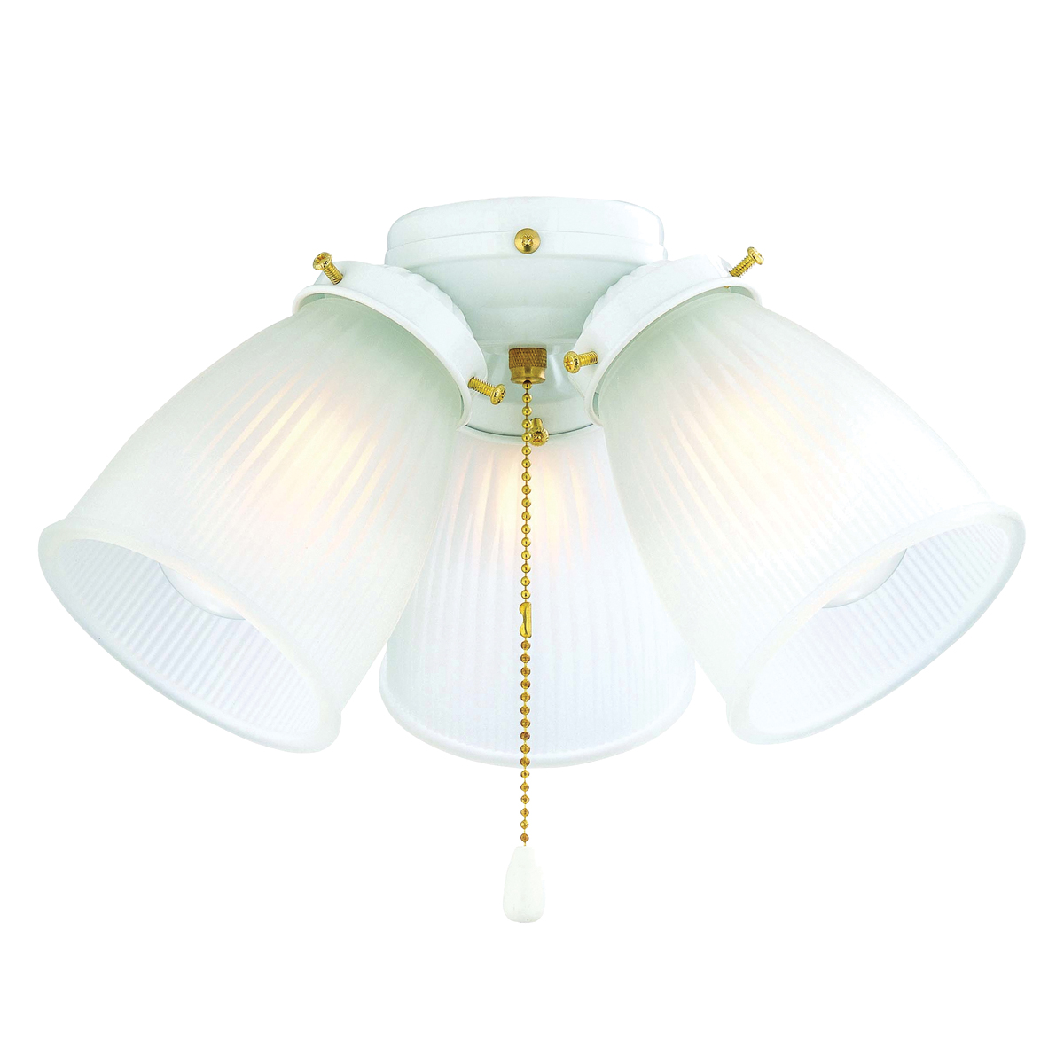 Picture of Boston Harbor CF-3FLK-WH Ceiling Fan Light Kit, Frosted Glass, White, White, Color Box