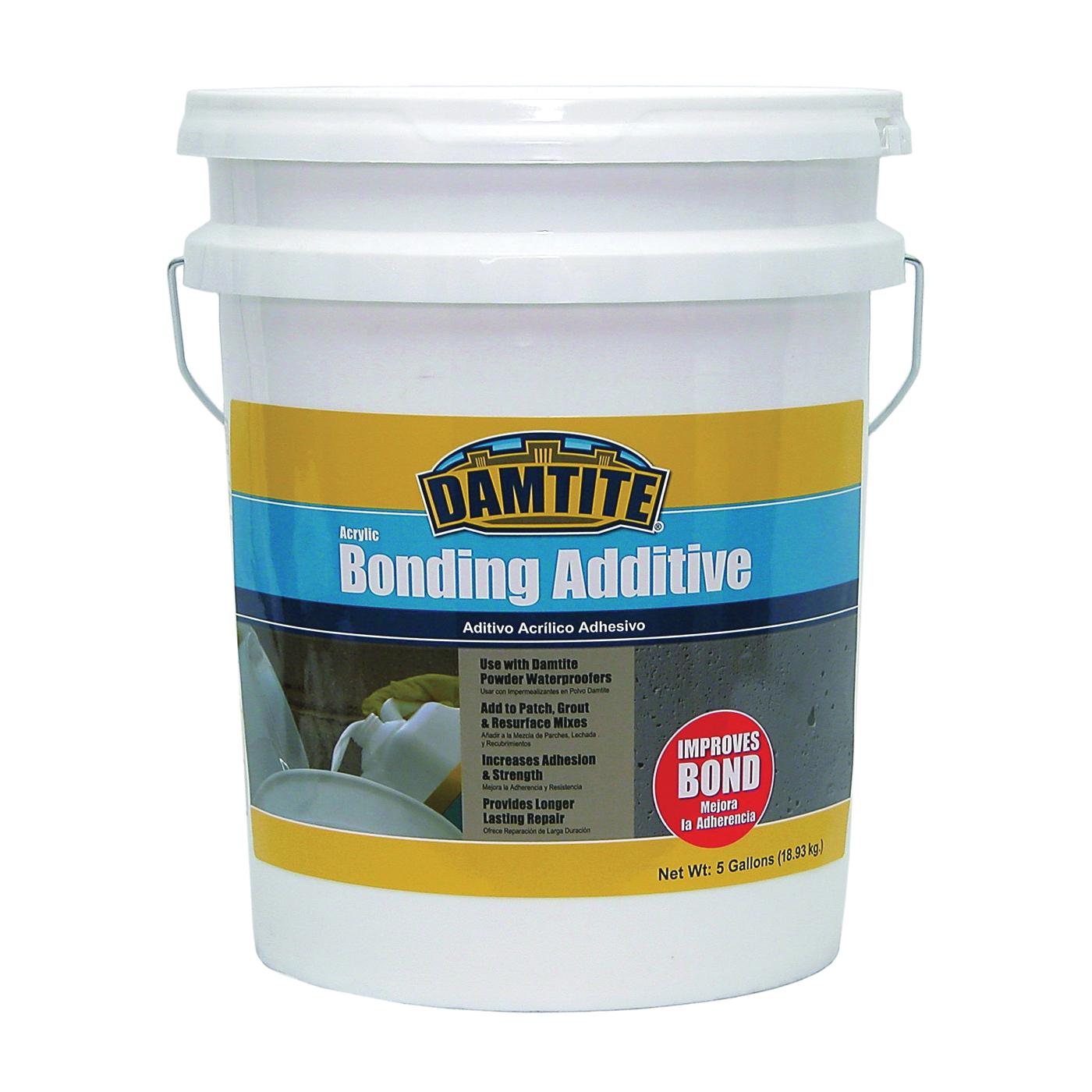 Picture of DAMTITE 05500 Bonding Additive, Liquid, Ammonia, White, 5 gal Package, Pail