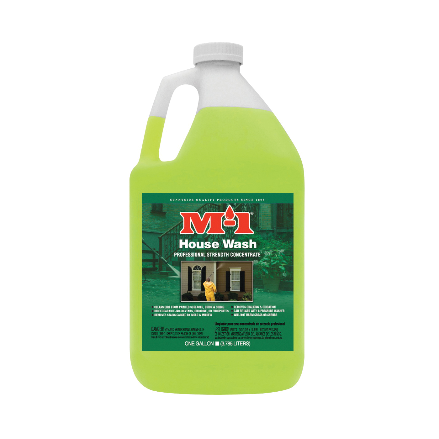 Picture of M-1 HW1G House Wash Cleaner, Liquid, Mild, Yellow, 1 gal, Bottle
