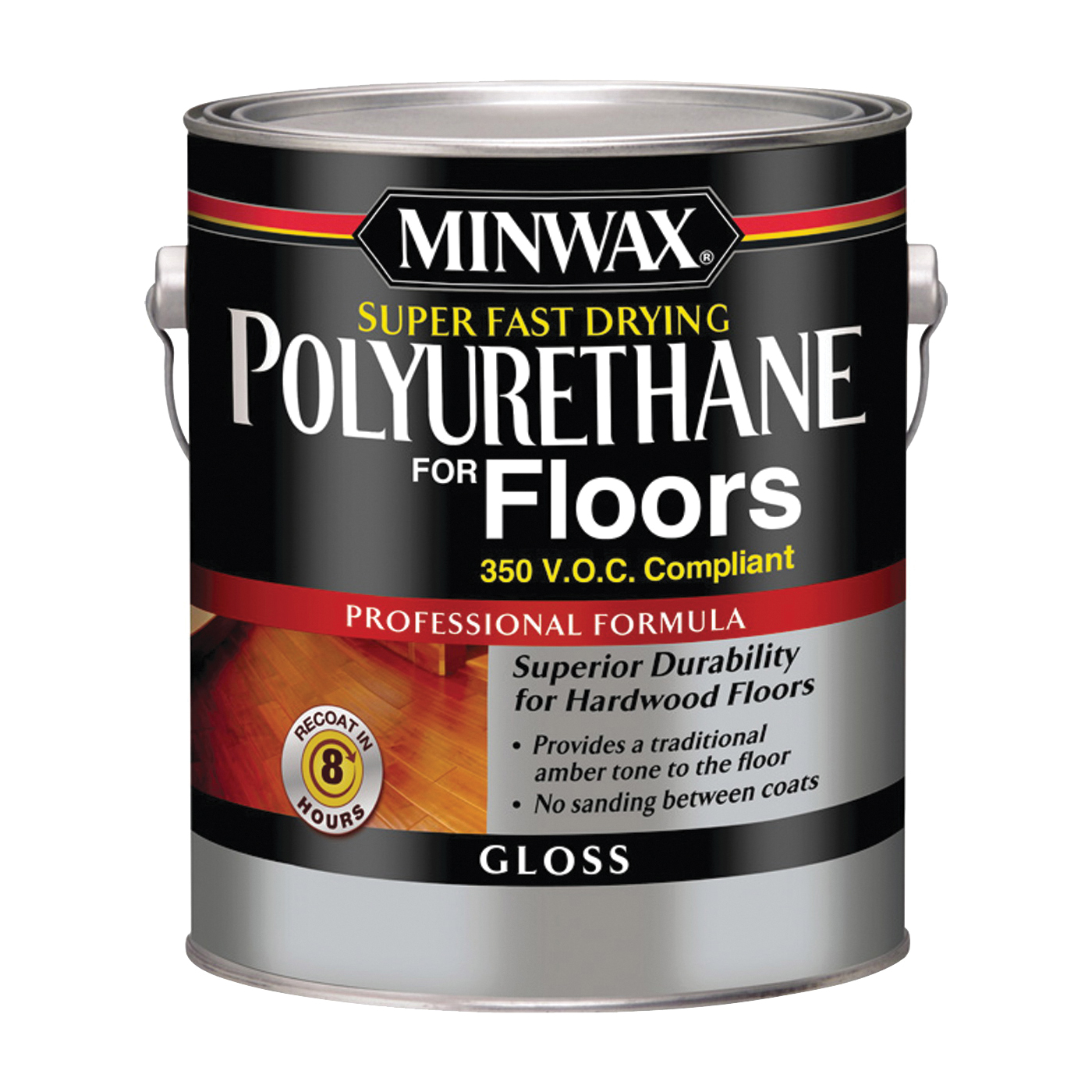 Picture of Minwax 13023 Polyurethane Paint, Gloss, Liquid, Clear, 1 gal, Can