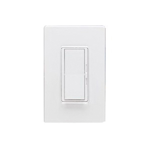 Picture of Lutron Diva DVW-603PGH-WH Dimmer, 5 A, 120 V, 600 W, Halogen, Incandescent Lamp, 3-Way, White
