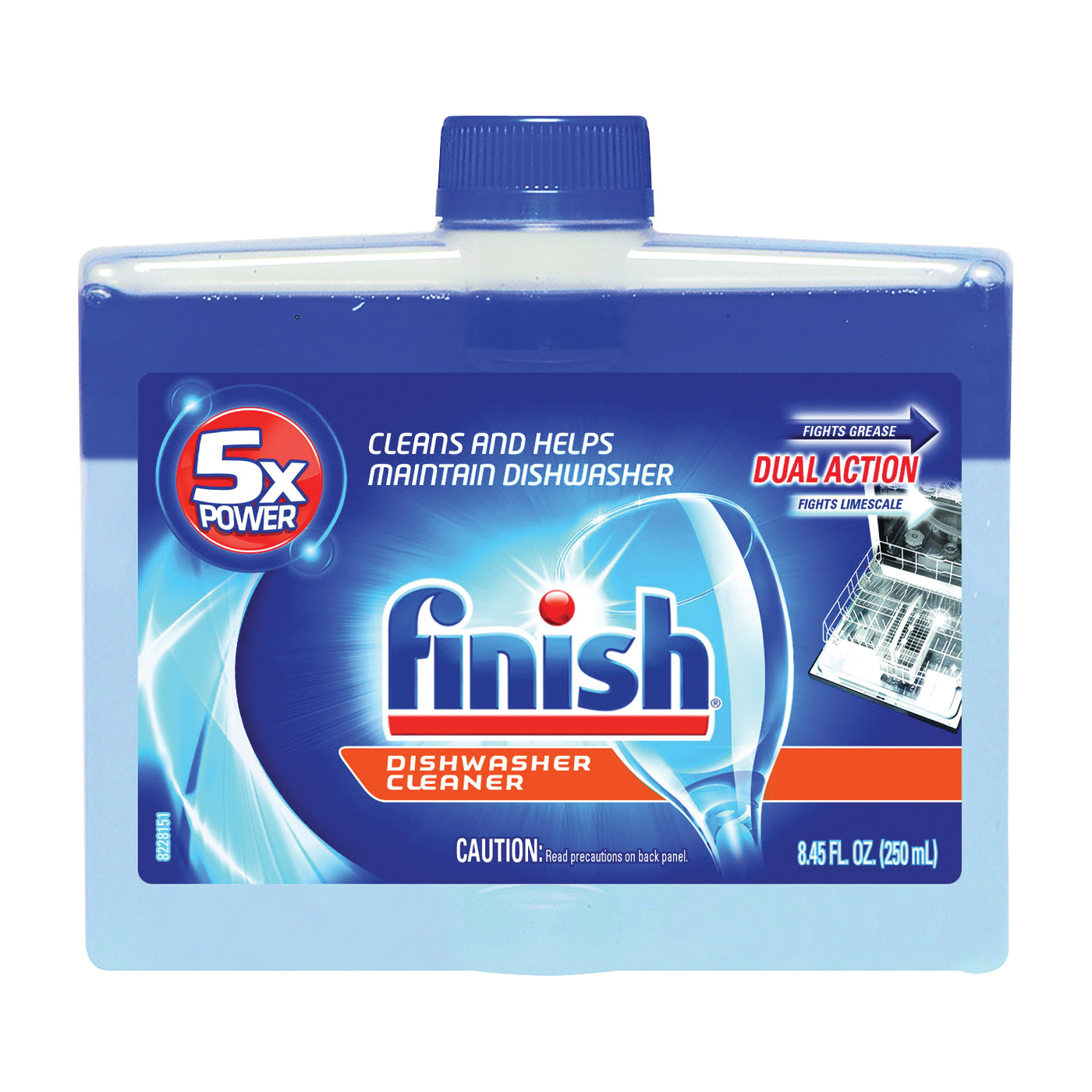 Picture of Finish 95315 Dishwasher Cleaner, 8.45 oz Package, Bottle, Liquid, Perfumed