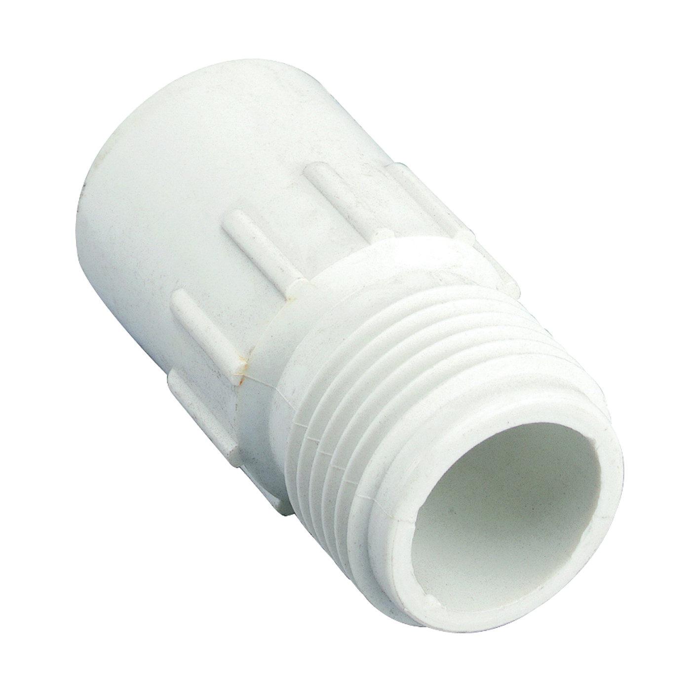 Picture of Orbit 53361 Hose to Pipe Adapter, 3/4 x 3/4 in, Slip Joint x MHT, Polyvinyl Chloride, White