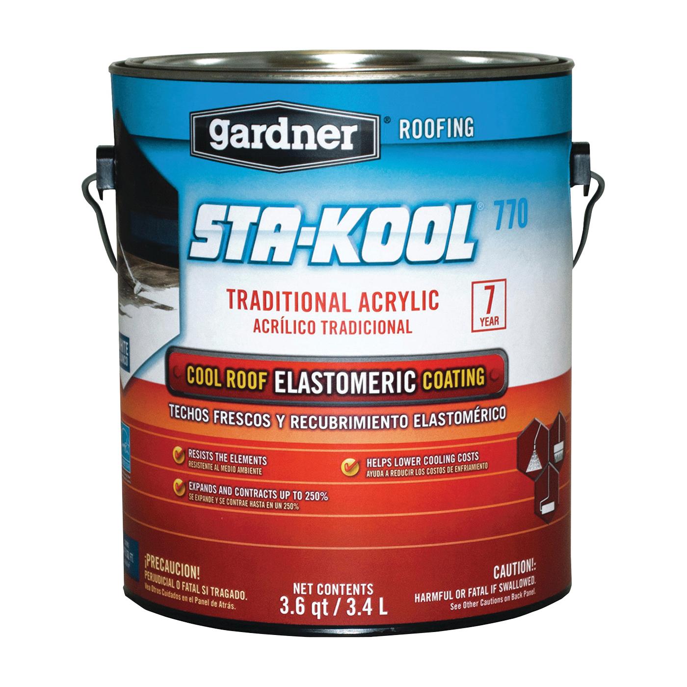Picture of Gardner SK-7701 Elastomeric Roof Coating, White, 3.4 L, Pail, Liquid