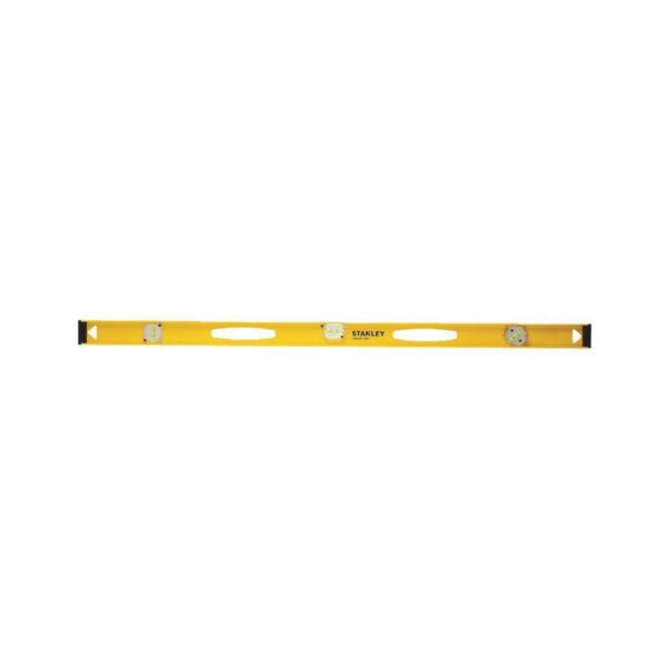 Picture of STANLEY 42-324 I-Beam Level, 24 in L, 3 -Vial, 1 -Hang Hole, Non-Magnetic, Aluminum, Black/Yellow