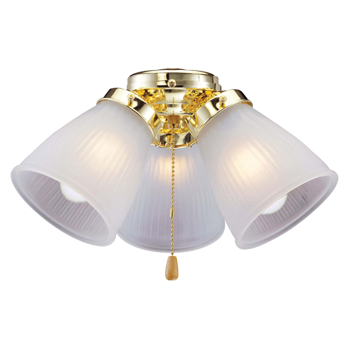 Picture of Boston Harbor CF-3FLK-PB Ceiling Fan Light Kit, Frosted Glass, Polished Brass, Polished Brass, Color Box