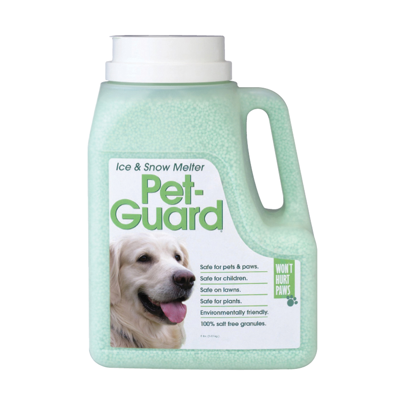 Picture of HJ Pet-Guard 9598 Ice Melter, Granular, Green, 8 lb Package, Jug