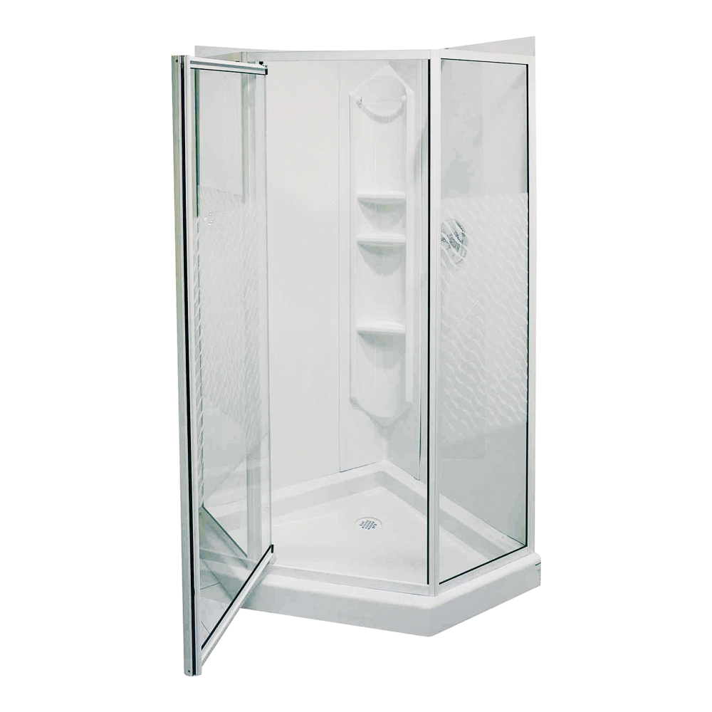 Picture of MAAX Himalaya 101694-001 Shower Kit, 38 in L, 38 in W, 74-1/4 in H, Polystyrene, 3-Wall Panel, Neo-Angle