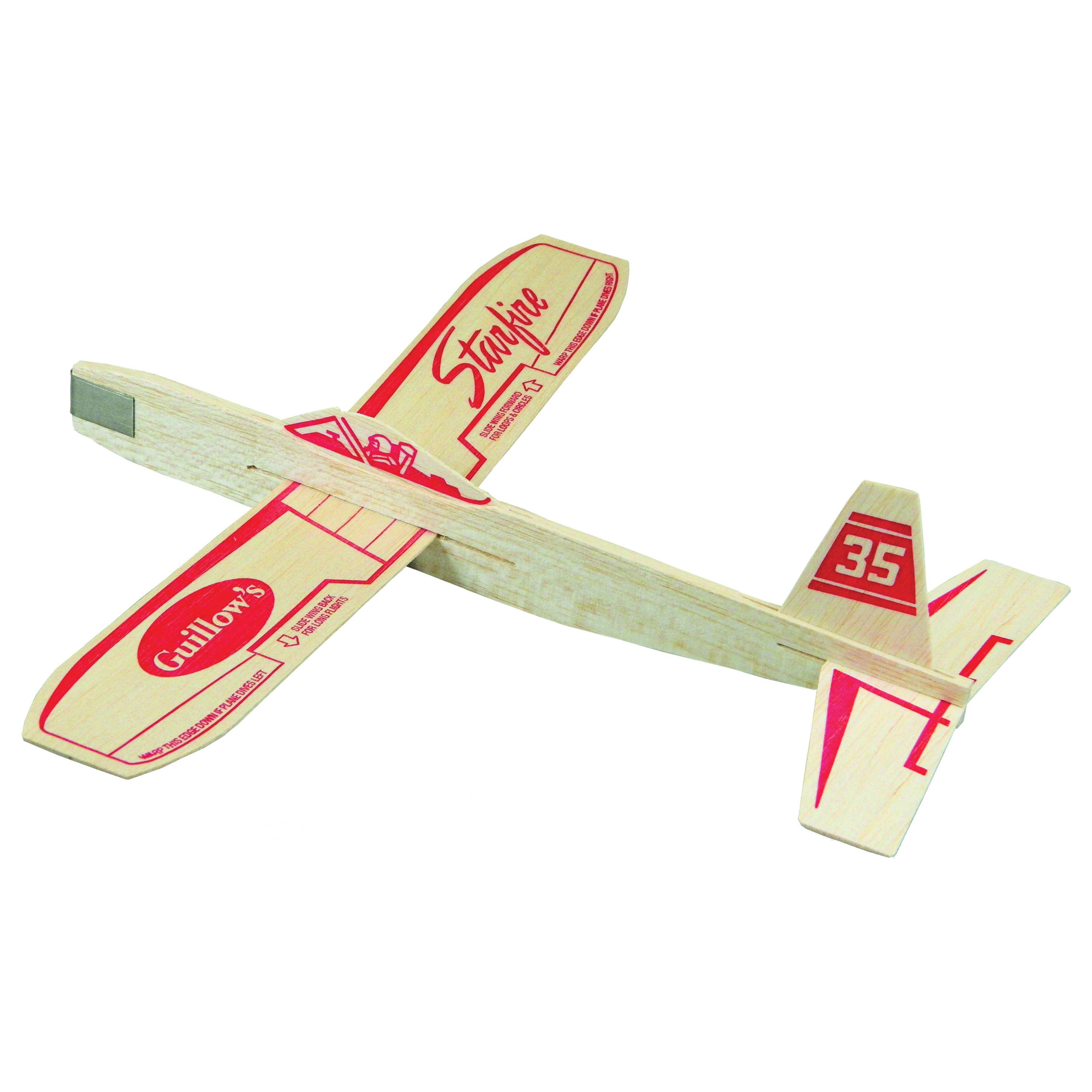 Picture of Guillow's Starfire 35 Balsa Glider Plane, 3 years and Up, 12 in, Wood