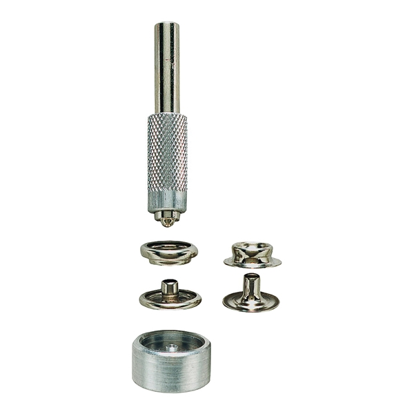 Picture of GENERAL 1265 Snap Fastener Kit, Solid Brass, Nickel