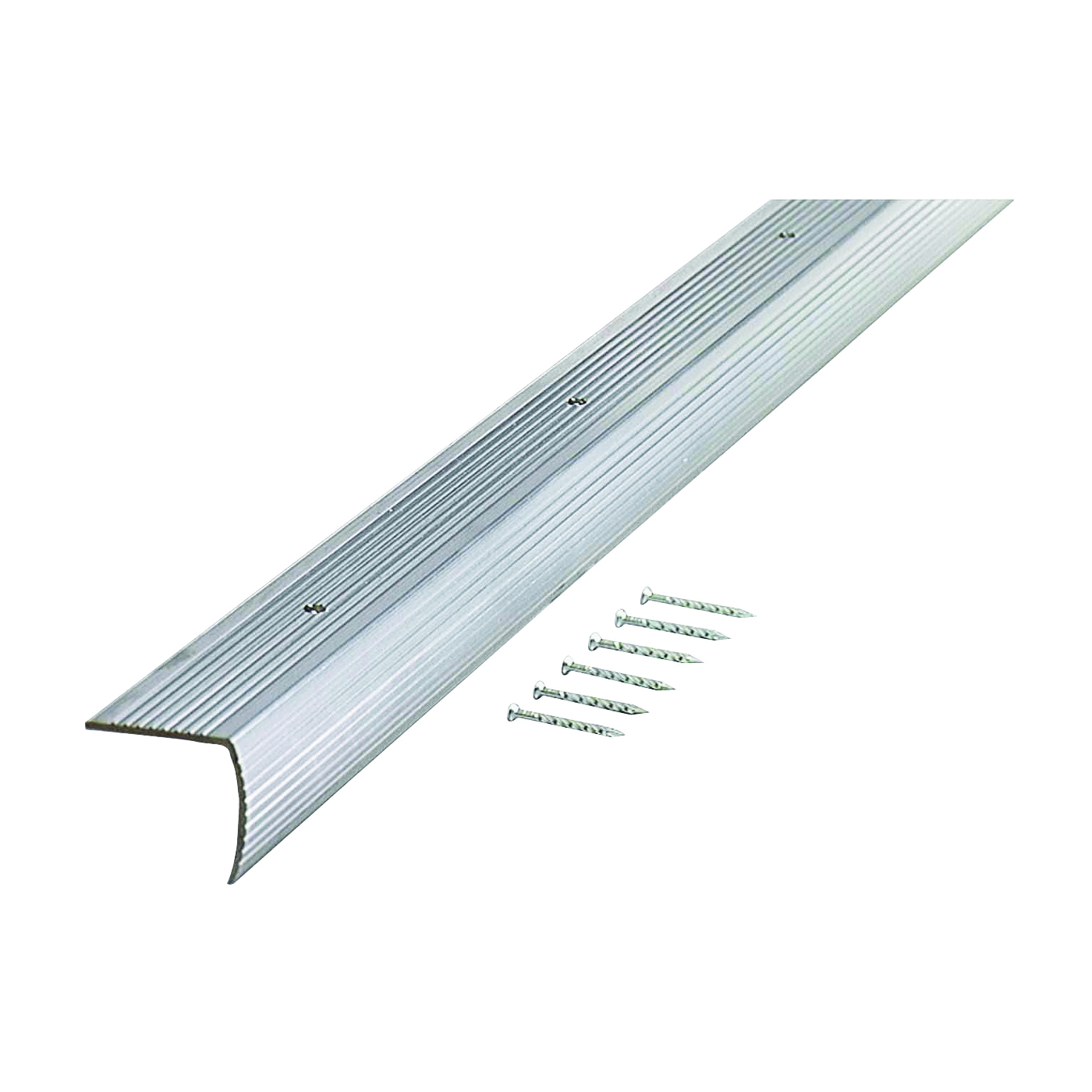 Picture of M-D 78022 Stair Edging, 36 in L, 1.28 in W, Aluminum