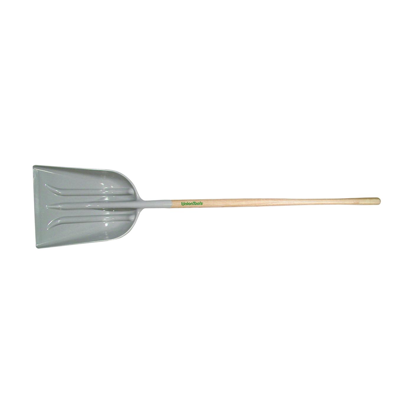 Picture of TRUE TEMPER 1680100 Grain Scoop, 14-3/4 in W Blade, 18-3/4 in L Blade, Poly Blade, Hardwood Handle, 64 in OAL