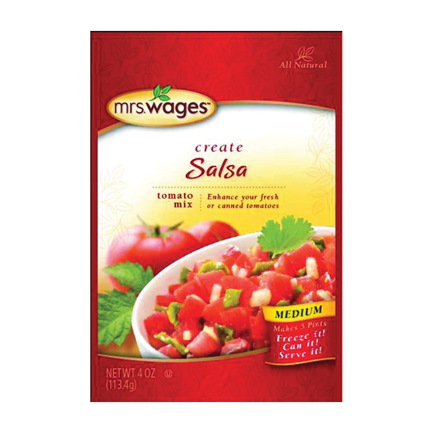 Picture of Mrs. Wages W536-J7425 Tomato Mix, 4 oz Package, Pouch