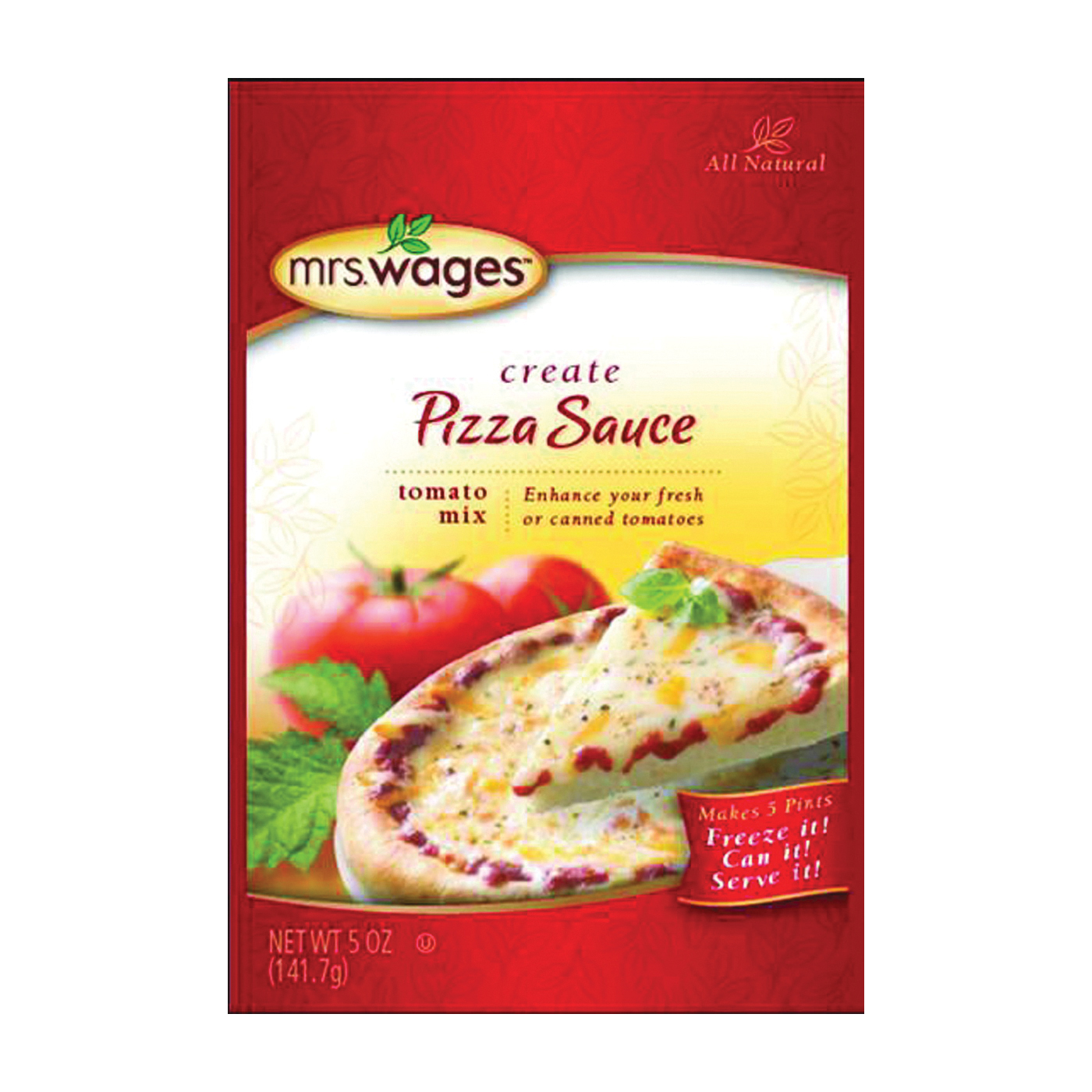 Picture of Mrs. Wages W539-J4425 Tomato Mix, 5 oz Package, Pouch