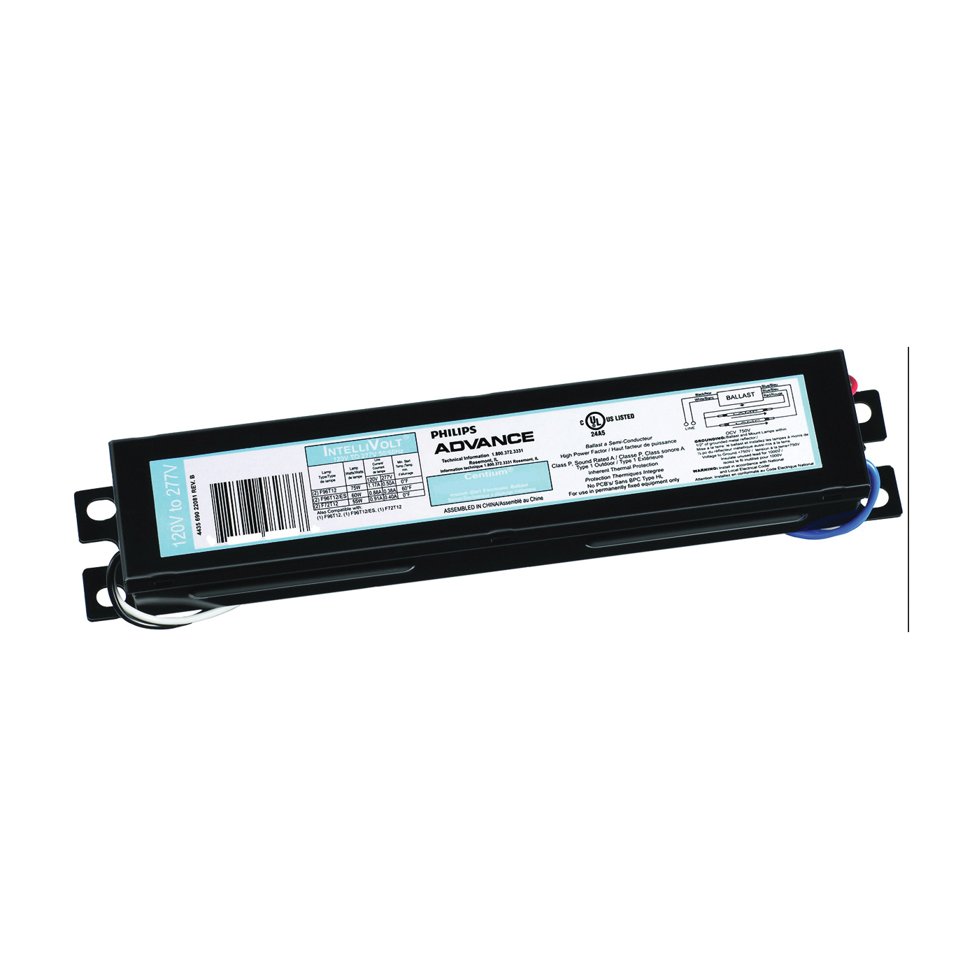 Picture of Philips Advance Centium ICN2P60N35I Electronic Ballast, 120/277 V, 132 to 135 W, 2-Lamp