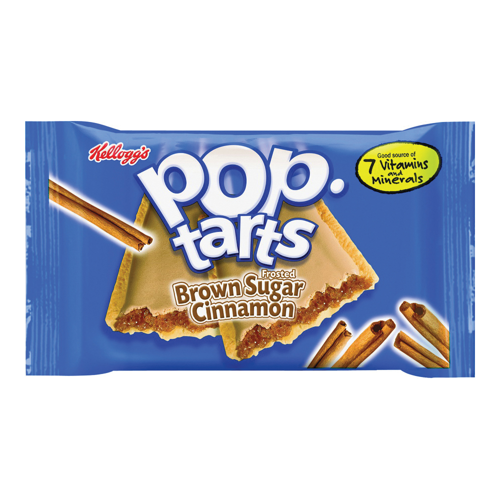 Picture of Pop-Tarts POPTFBS6 Frosted Toaster Pastry, Cinnamon Flavor, 3.52 oz Package