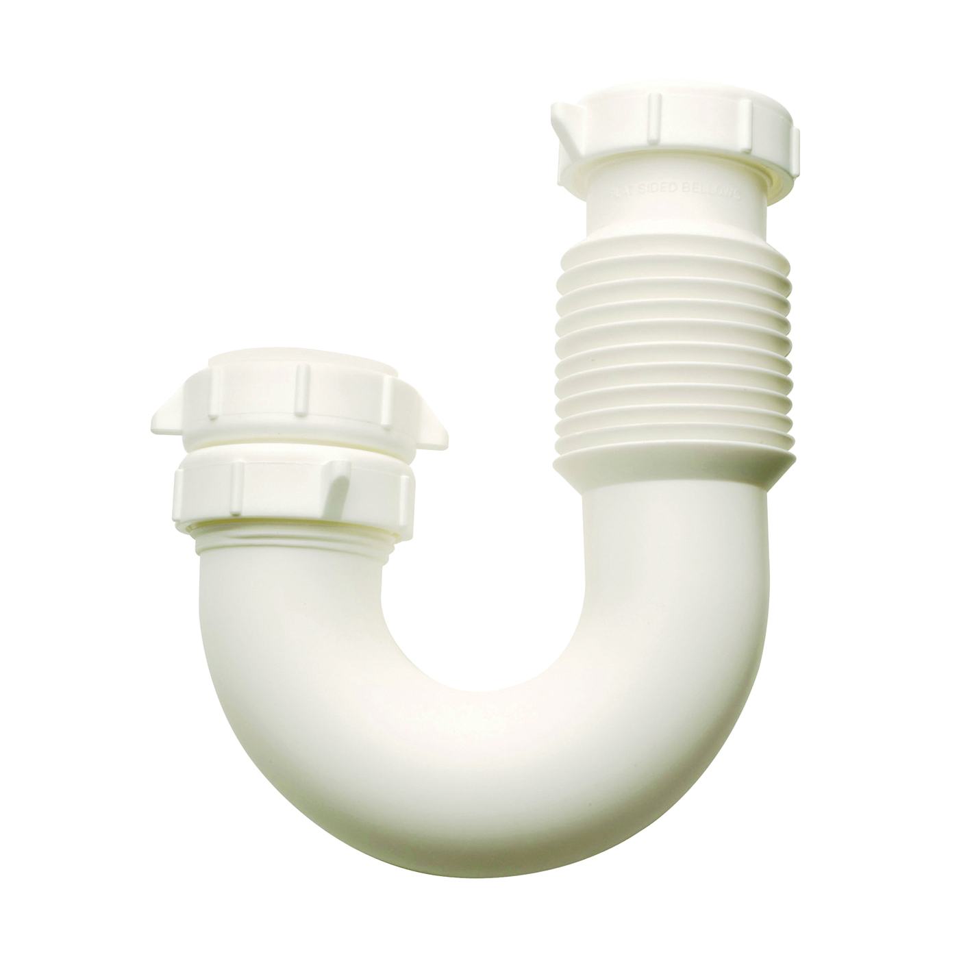 Picture of Plumb Pak PP812-55 J-bend, 1-1/2 x 1-1/2 in, Slip Joint, Plastic, White