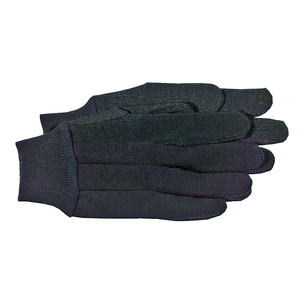 Picture of BOSS 1850L Protective Gloves, L, Straight Thumb, Knit Wrist Cuff, Polyester, Brown
