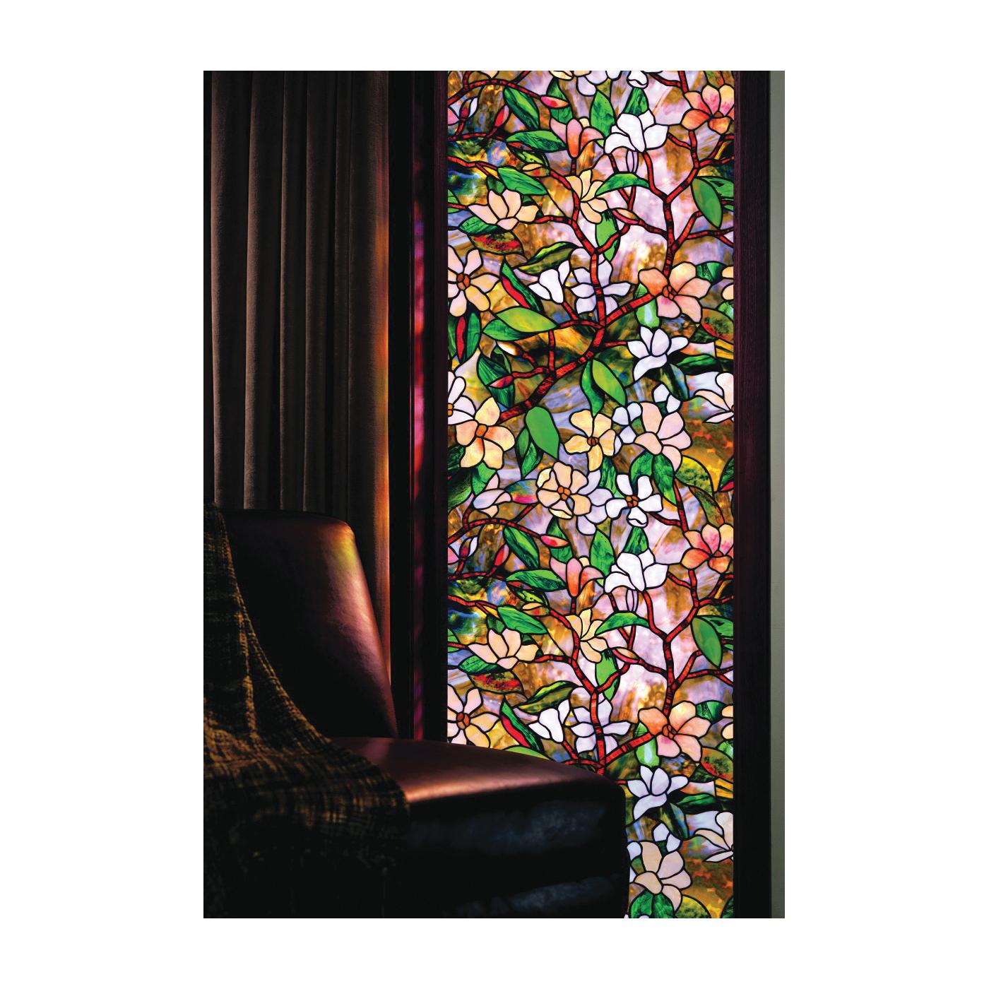 Picture of ARTSCAPE 01-0113 Window Film, 36 in L, 24 in W, Magnolia Pattern