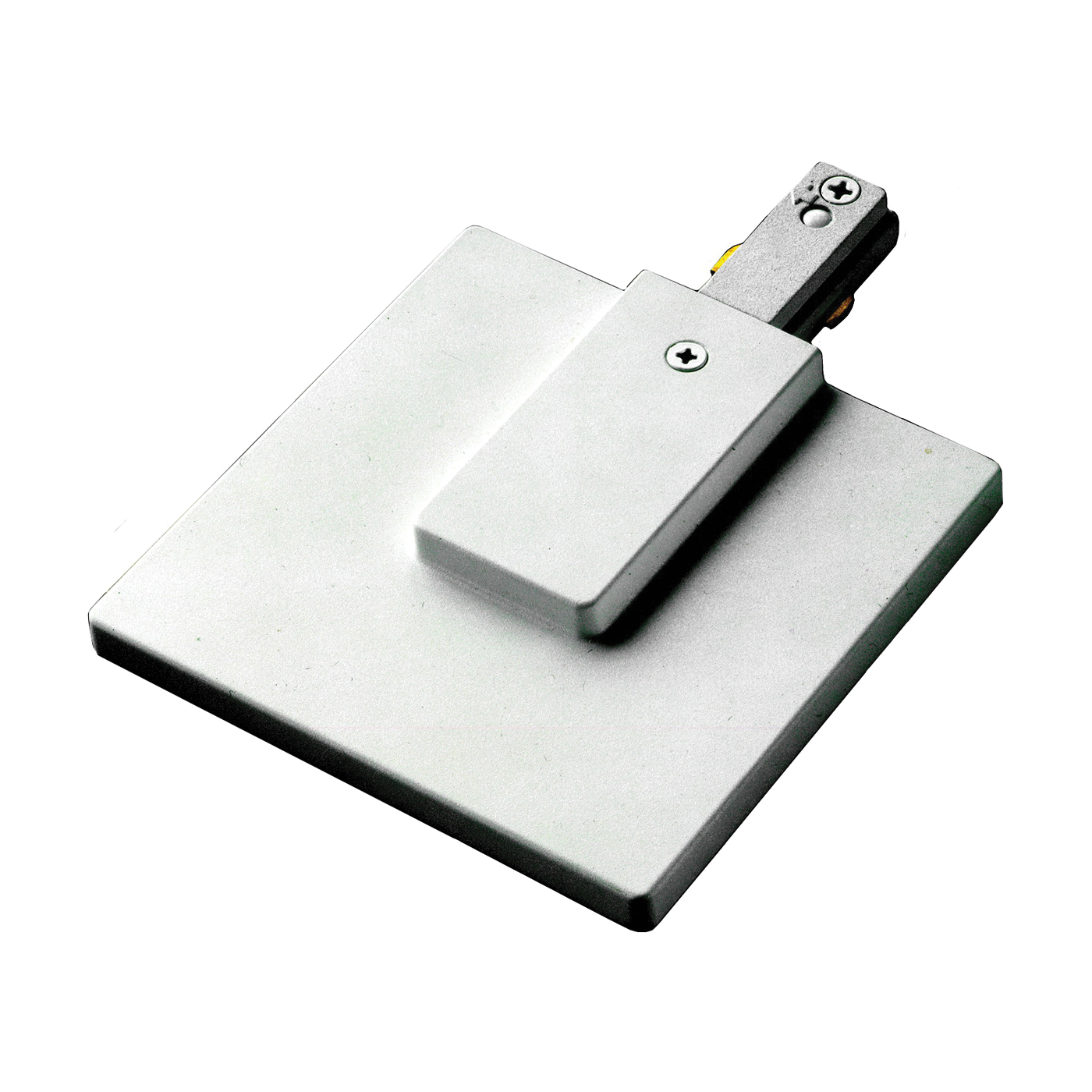 Picture of Eaton Lighting LZR200P Track Live-End Feed with Junction Box Cover, White, For: Lazer Track only