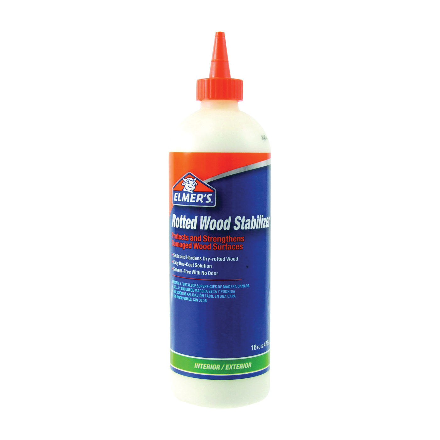 Picture of Elmers E760Q Rotted Wood Stabilizer, Liquid, White, 16 oz Package