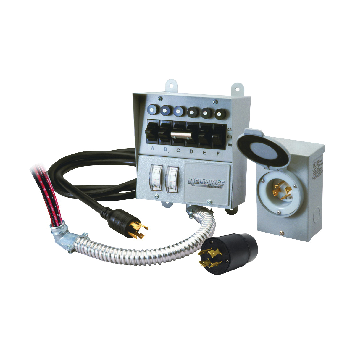 Picture of RELIANCE CONTROLS Pro/Tran 31406CRK Transfer Switch Kit, 1-Phase, 60 A, 120/250 V, 7-Circuit, 6-Breaker